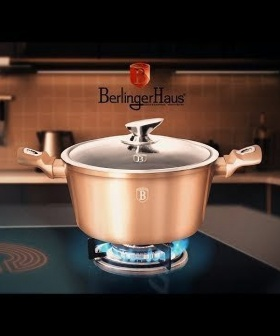 Berlinger Haus Edény fedővel, 28 cm Metallic Line Rosegold Collection BH-1516N